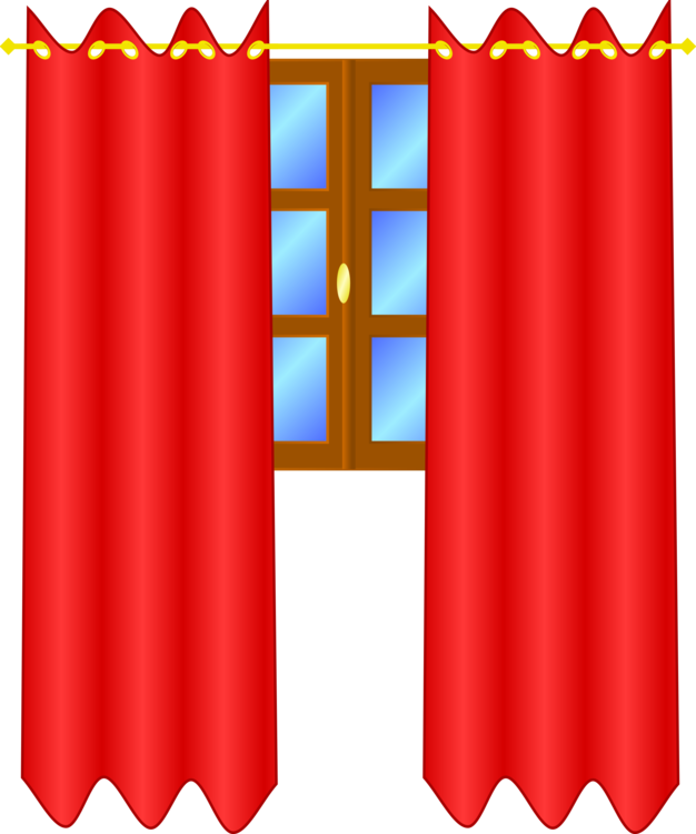 Drapery clip door curtain. Window treatment theater drapes