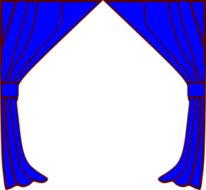 Curtains clip art at. Curtain clipart blue curtain image freeuse stock