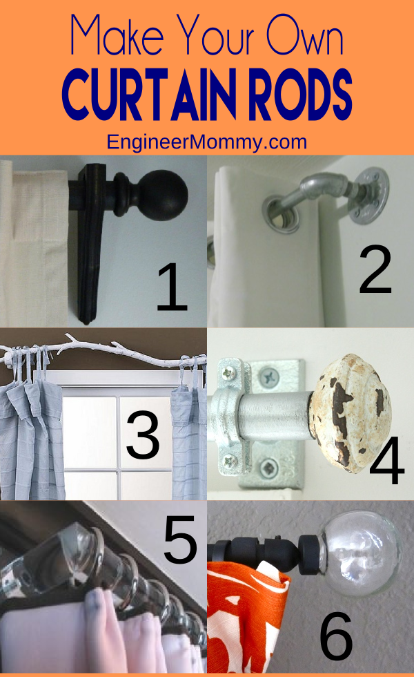 Drapery clip electrical conduit. Diy curtain rods curtains