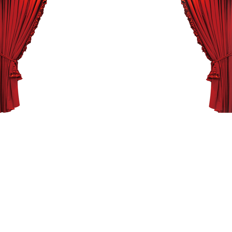 Drapery clip fancy. Red curtain image