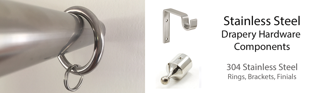 Drapery clip stainless steel double. Rings and brackets marine