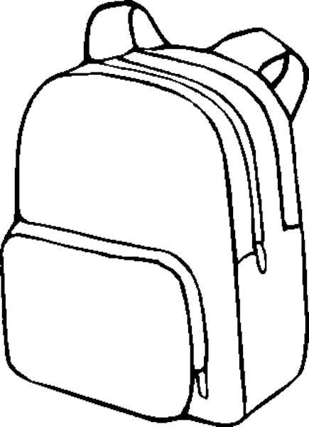 Draw clipart bag. Bookbag drawing at getdrawings