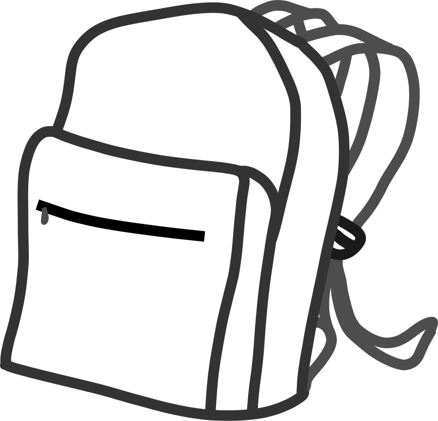 Draw clipart bag. School bags drawing at