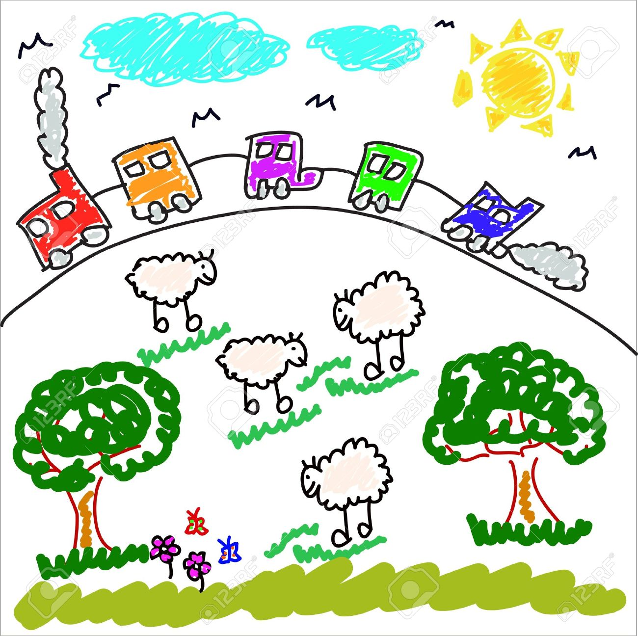 Draw clipart childrens art. Child drawing at getdrawings