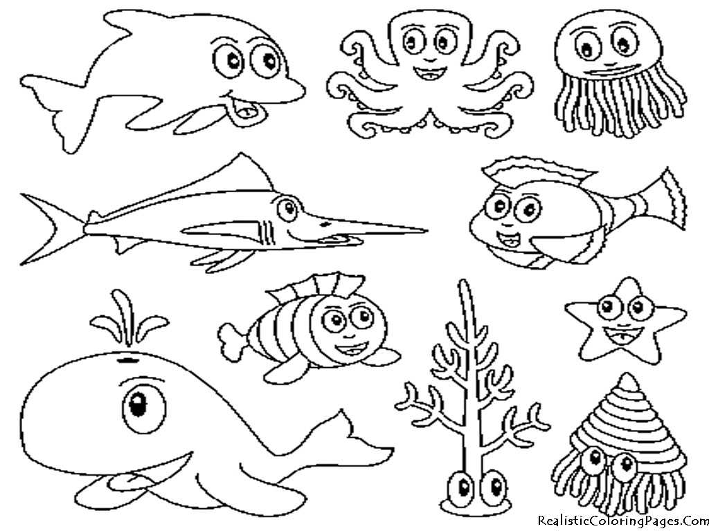 Draw clipart coloring contest. Coral reef drawing with