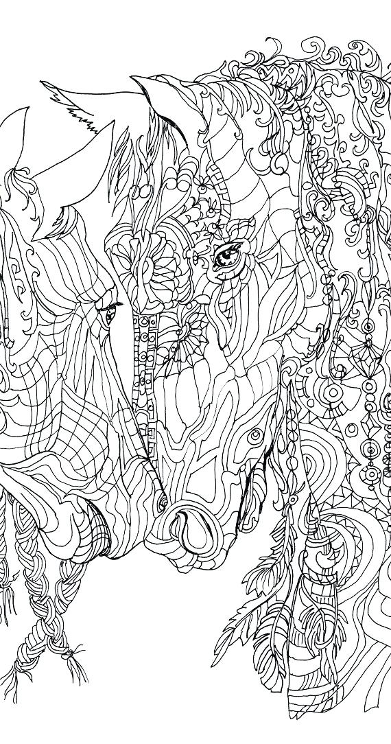 Draw clipart colouring page. Horse pages to print