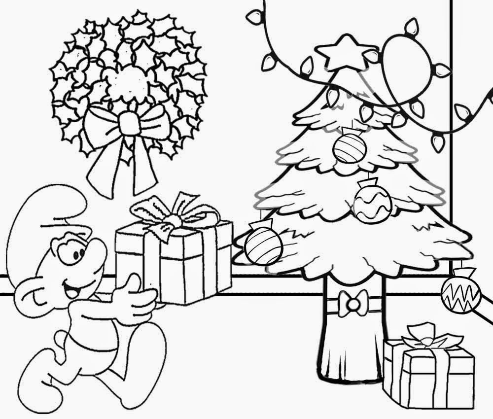 Draw clipart colouring page. Christmas drawing to color