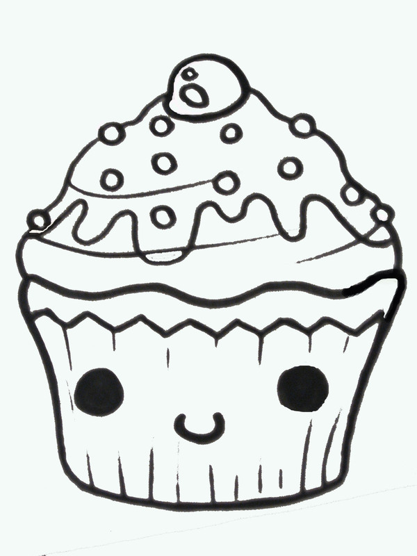 Draw clipart drawing. Cupcake free download clip