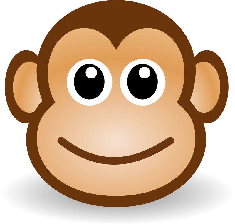 Draw clipart monkey. Pix for cute face