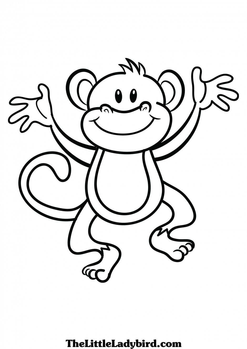 Draw clipart monkey. Cute clip art black