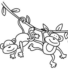 Draw clipart monkey. Swinging cartoon best baby