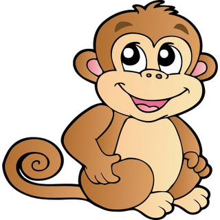 Draw clipart monkey. Cute cartoon monkeys clip