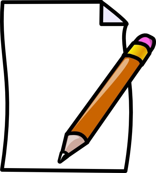 Draw clipart pencil. Paper and drawing at