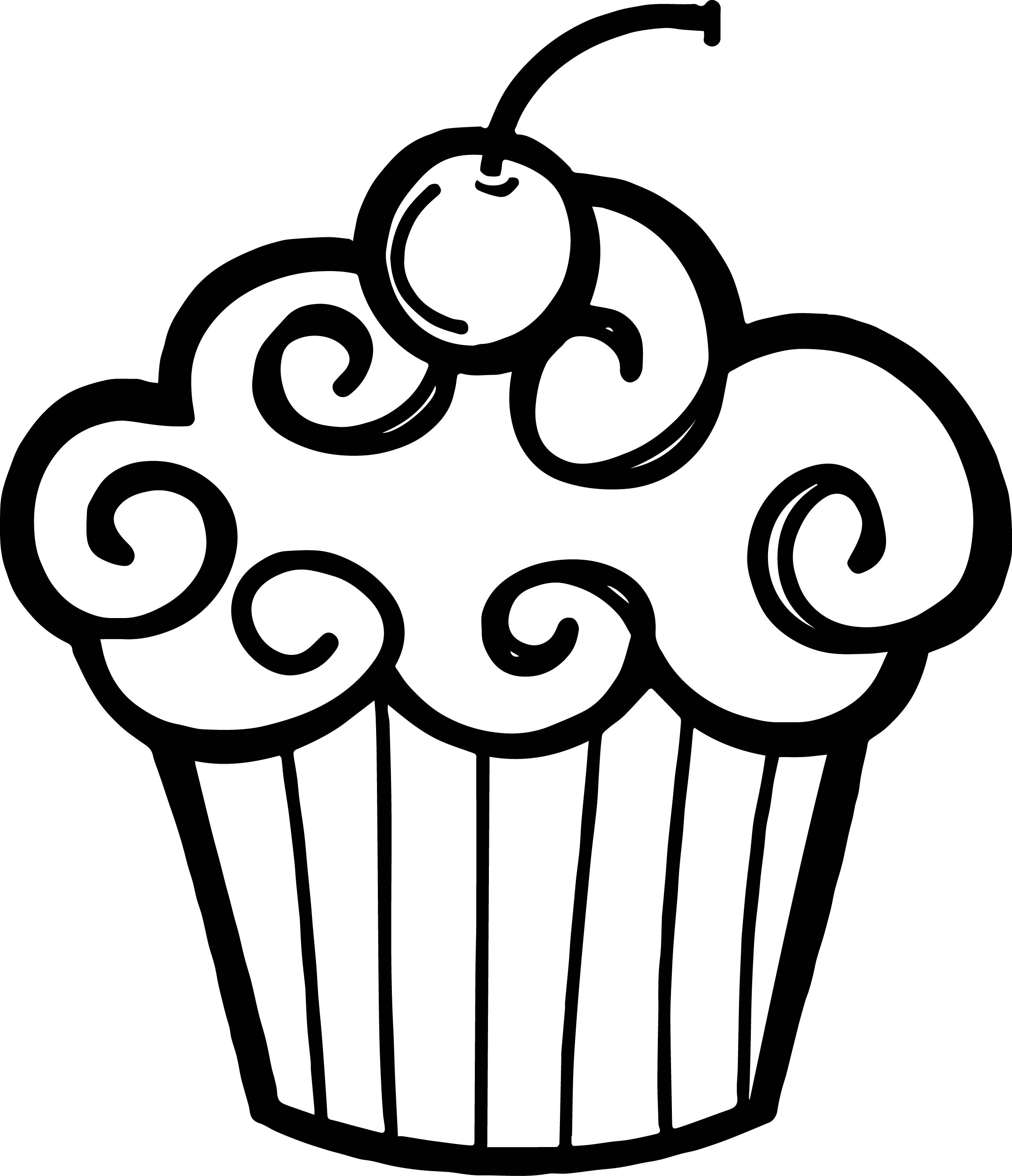 Draw clipart sketch artist. Black and white cupcake