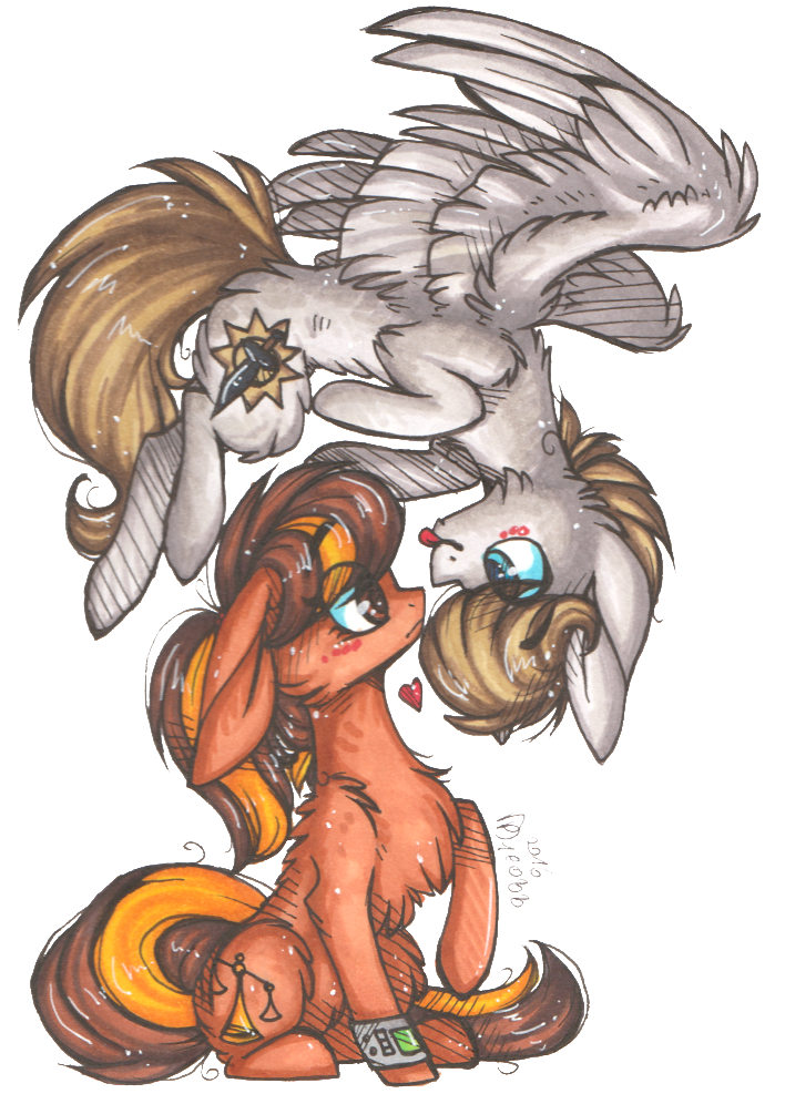 Drawing 2016 couple. Ponies ych closed by