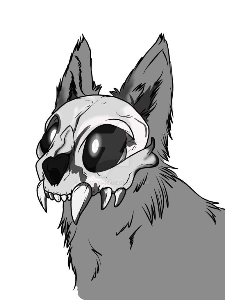 Drawing 2016 skull. Day cat thing by