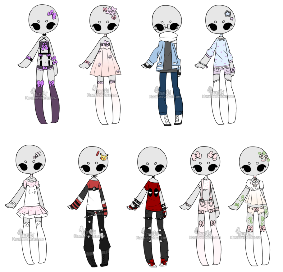 Drawing accessory anime. C custom outfits batch