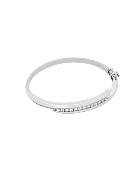 Drawing accessory bangle. Kt white gold