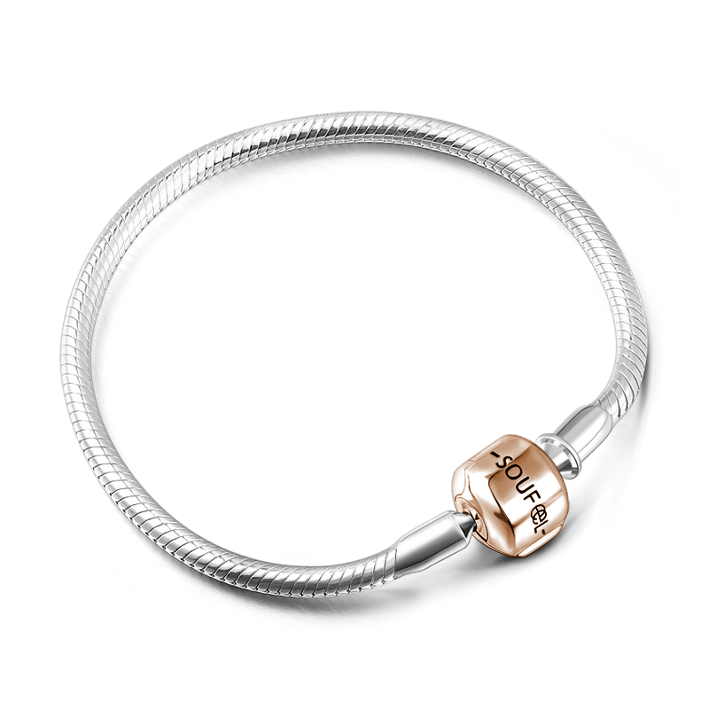 Drawing accessory bangle. Soufeel clasp bracelet rose