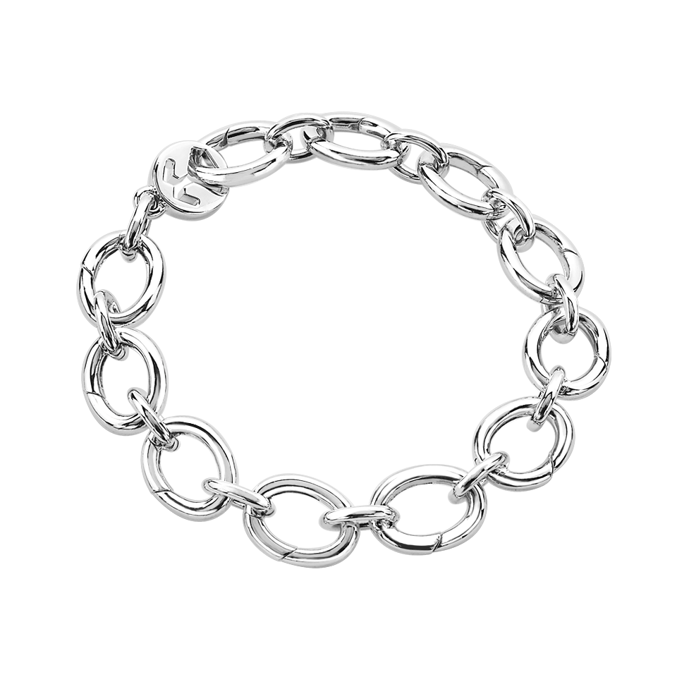 Silver opened links beawelry. Drawing accessory bracelet picture stock