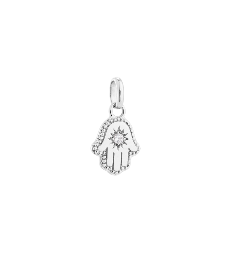 Drawing accessory charm. Hamsa hand sterling silver