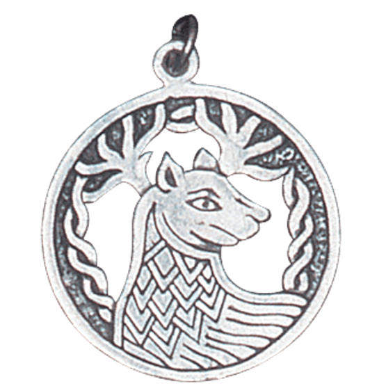 Drawing accessory charm. Alban elfed stag pendant