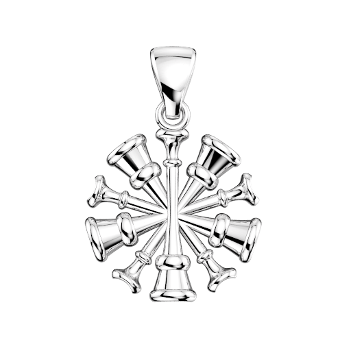 Drawing accessory charm. Five horn chief vfd