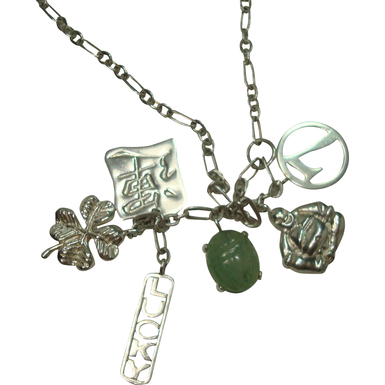 Drawing accessory charm. Sterling lucky necklace things