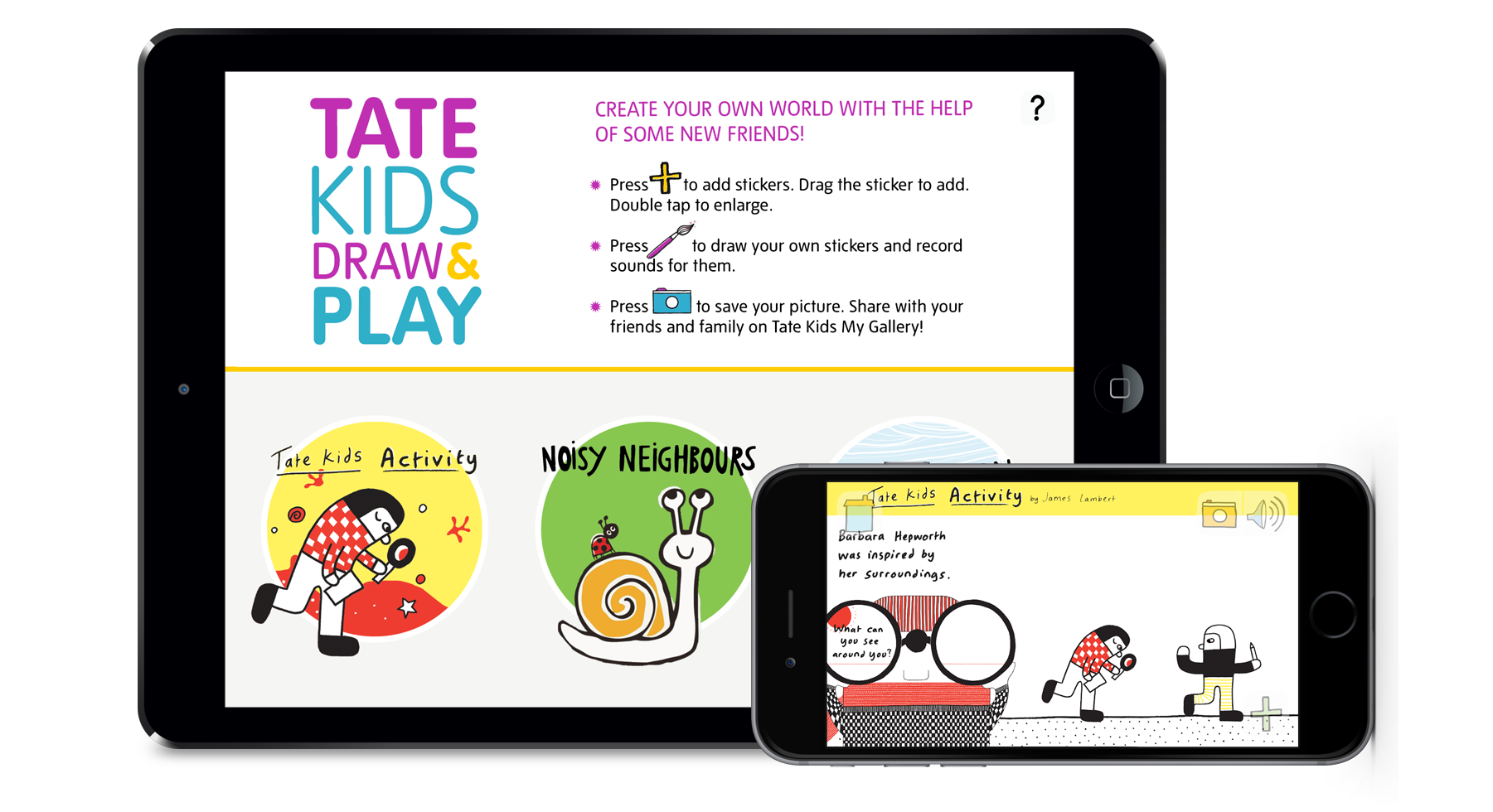 Drawing accessory kid. Tate apps for kids