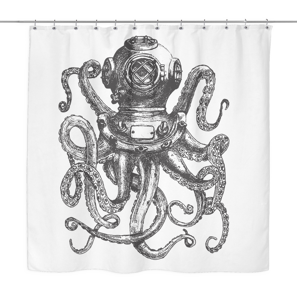 Drawing accessory unique. Octopus shower curtain pinterest