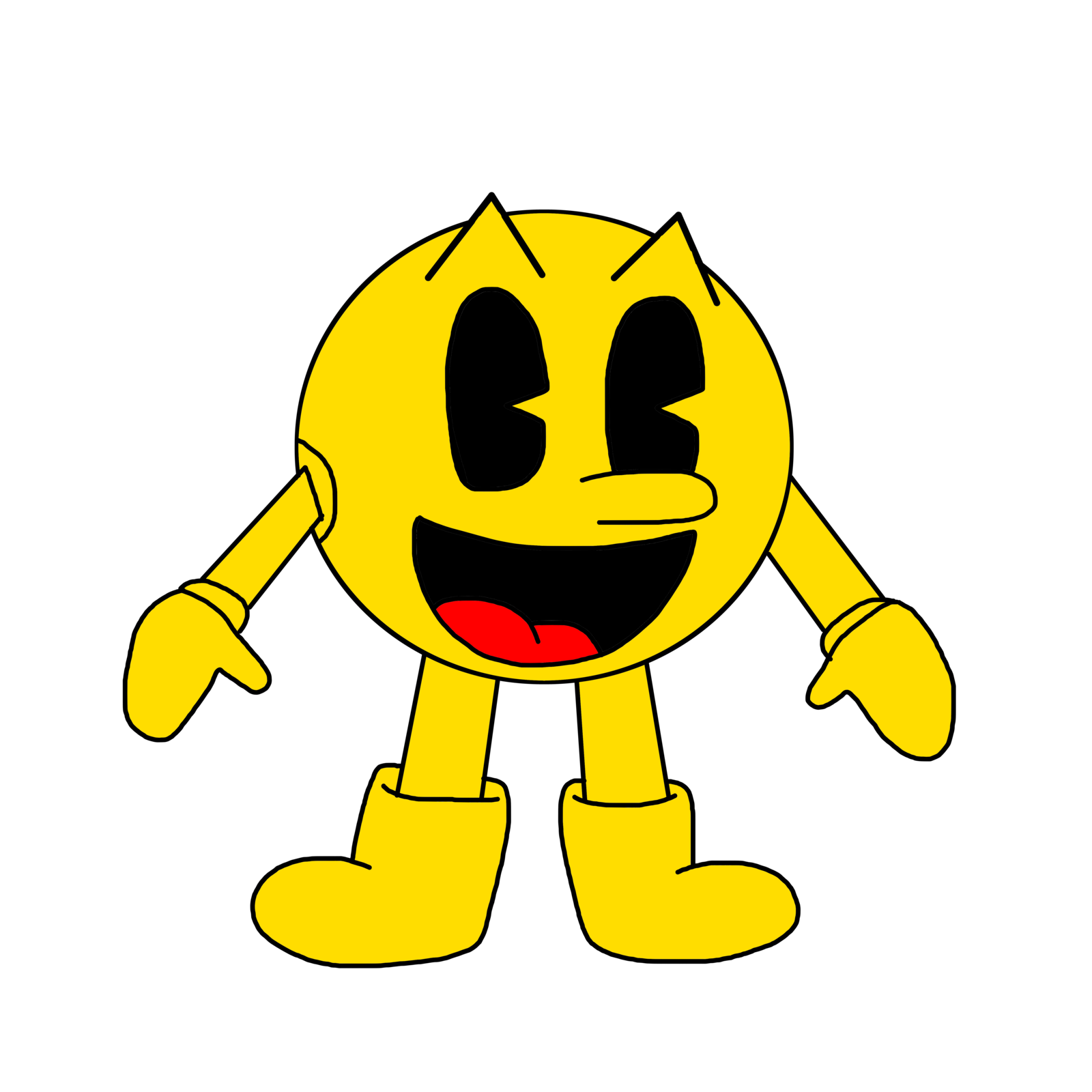 Drawing adventures pac man. World the new namco