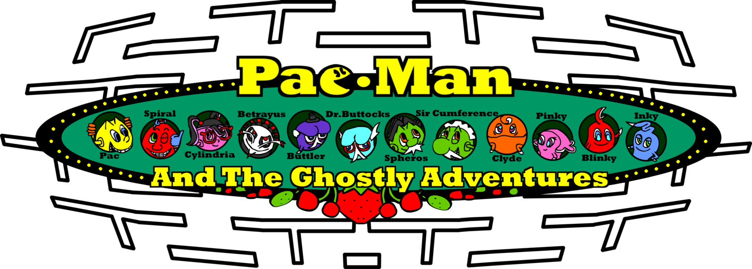 Drawing adventures pac man. And the ghostly by