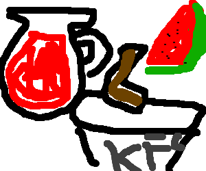 Drawing aid. Cool kfc and watermelons