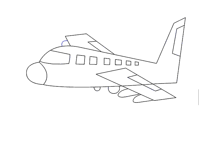 drawing airplane pen