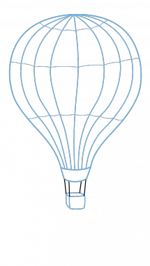 Drawing air hot. How to draw balloon