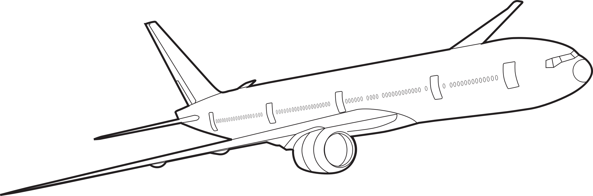 Drawing airplane. Plane outline at getdrawings