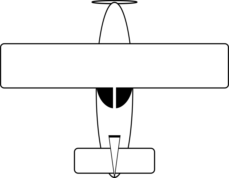 Drawing airplane. File svg wikimedia commons