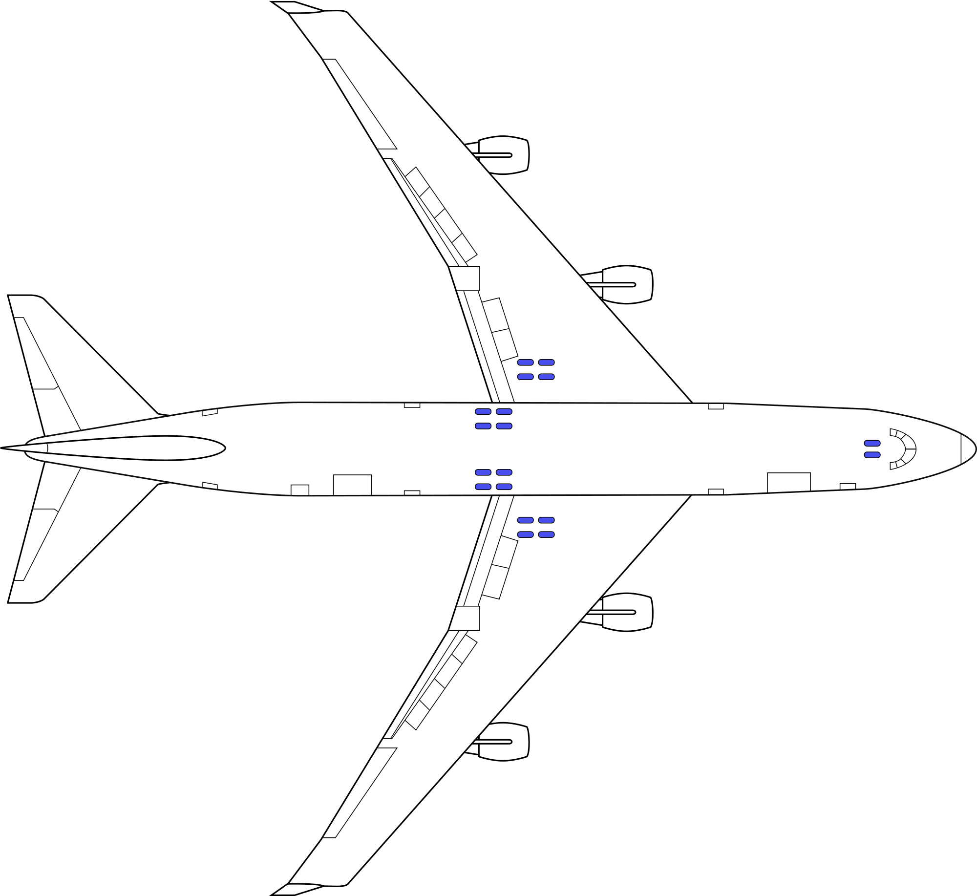 Drawing airplane boeing 747. File svg wikimedia commons