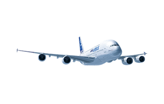 Drawing airplane passenger jet. Commercial aircraft a