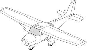 Drawing airplane printable. Small plane at getdrawings