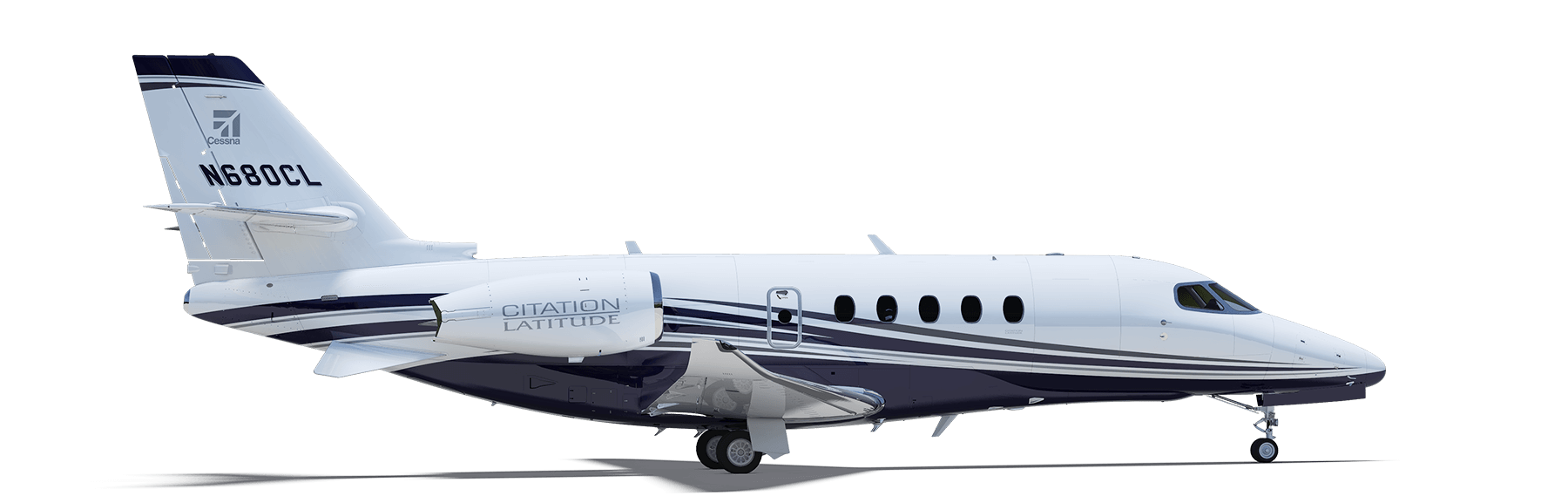 Drawing airplane private jet. Citation latitude turning heads