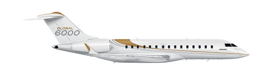 Drawing airplane private jet. Welcome bombardier business aircraft