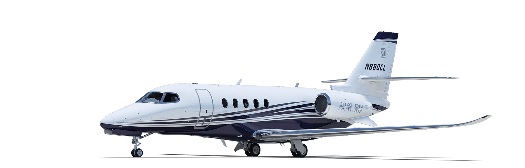 Drawing airplane private jet. Citation latitude