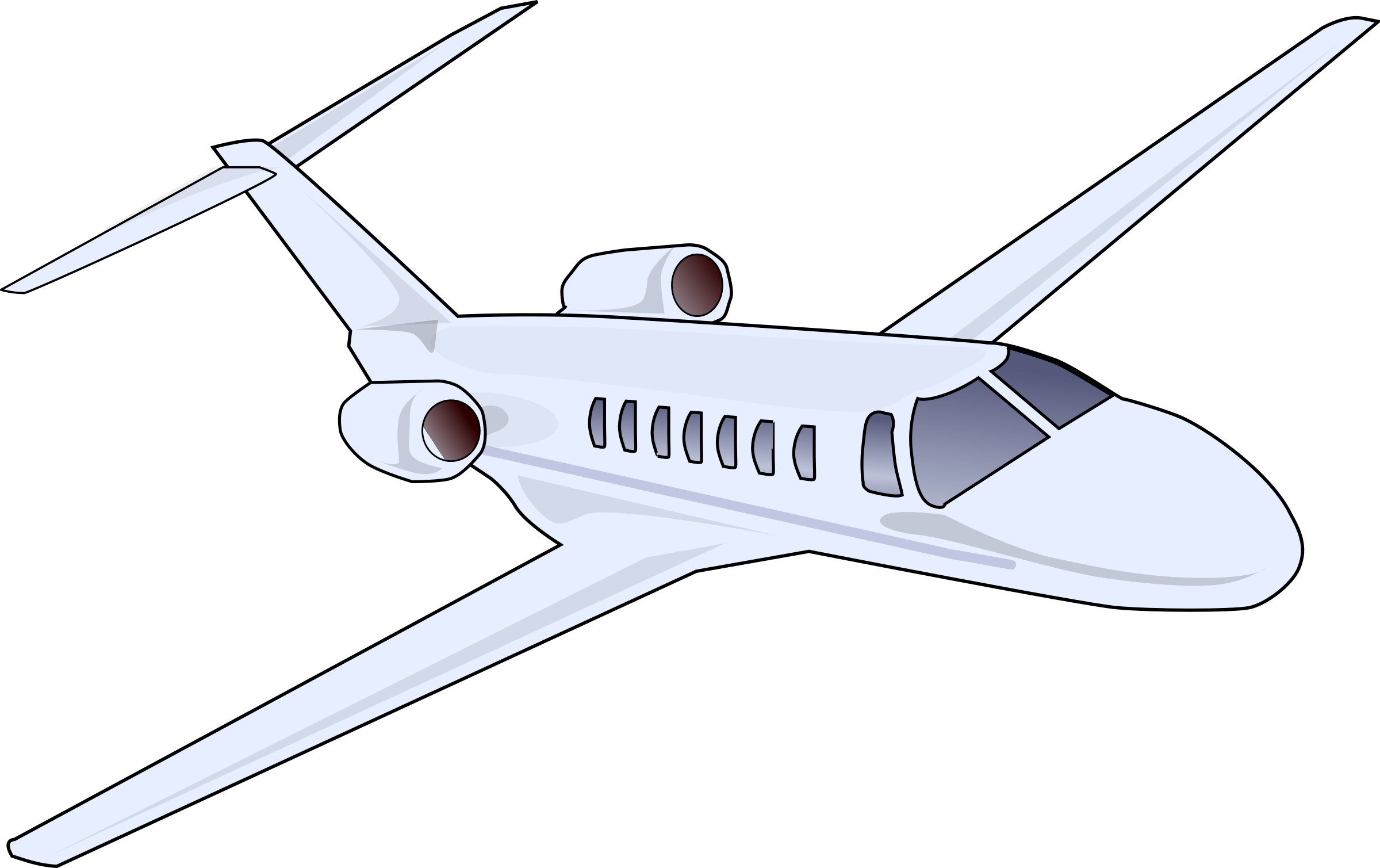 Drawing airplane private jet. Clipart business