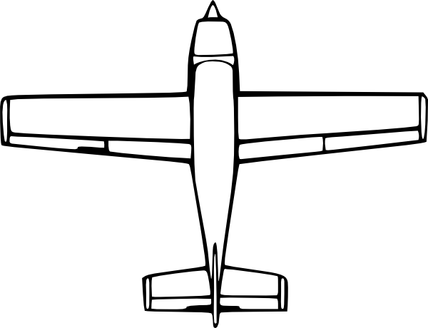 Drawing airplane side view. Wirelizard top down clip