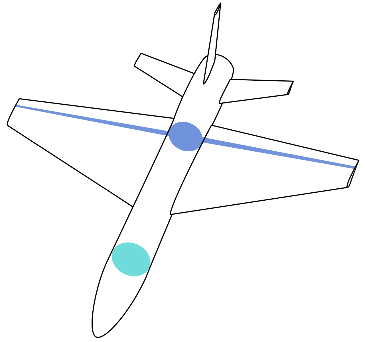 Drawing airplane wing. Aircraft design how is