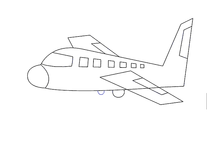 Drawing airplane. How to draw an