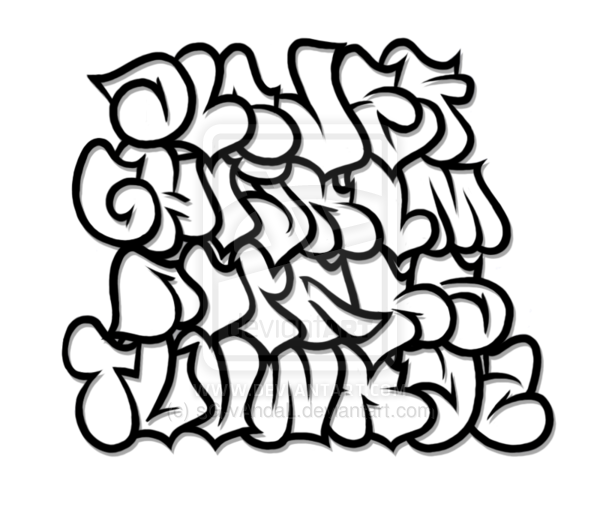 drawing chrome graffito