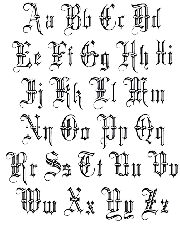 Drawing alphabets letters to live by. Return from old english