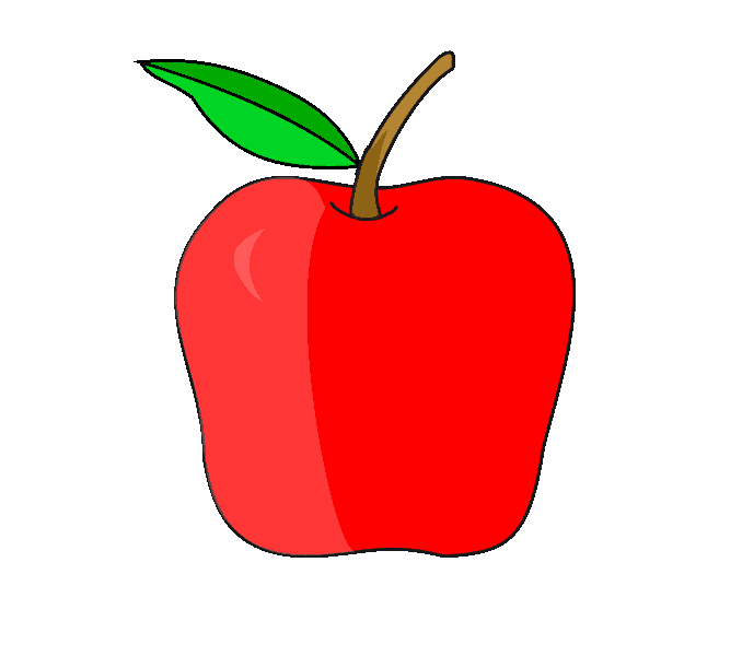 Drawing apple. How to draw an
